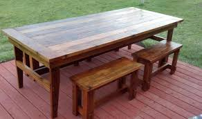 Rustic Kitchen Tables Bench Rustic Table With Bench Beautiful Rustic Dining Furniture
