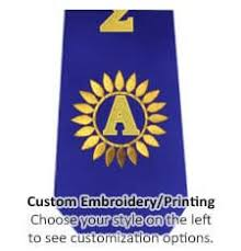 customized graduation stoles graduation stoles sashes custom graduation stoles