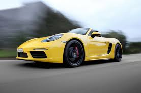 yellow porsche boxster review 2017 porsche 718 boxster review