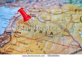 syria on map syria pin on map stock images royalty free images vectors