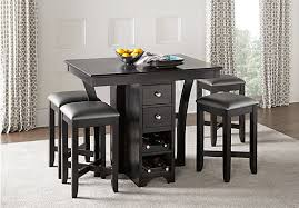 black dining room sets ellwood black 5 pc bar height dining set dining room sets black