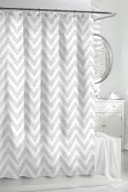 Grey White Curtains Chevron Shower Curtain By Kassatex