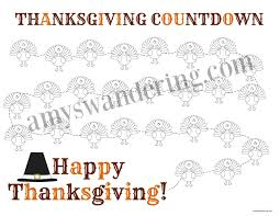 thanksgiving countdown printable s wandering