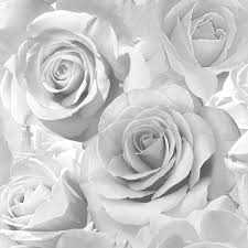 silver roses floral silver glitter wallpaper 139520