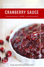 best cranberry sauce recipe thanksgiving side dish ideas