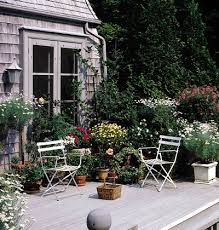 Patio Container Garden Ideas A Lush Container Garden Brings To The Sedate Tones Of This