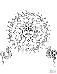 indian lion design coloring page free printable coloring pages