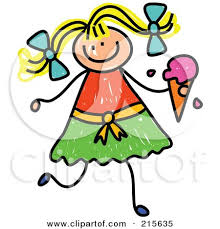 royalty free rf clipart illustration of a childs sketch of a boy