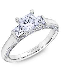scott kay engagement rings princess cut diamond engagement rings martha stewart weddings