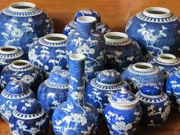 white ginger jar l large collection of blue white ginger jars rugs tapestries