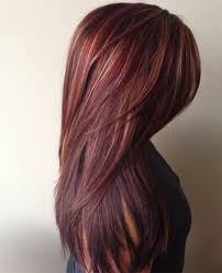layered highlighted hair styles long layered hairstyles 2016 with blunt bangs red hairstyles