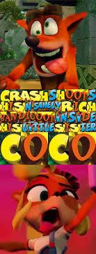 Crash Bandicoot Meme - hot sticky bandicoot crash bandicoot know your meme
