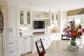 White Kitchen Cabinets Open Up New Solutions In Orange County - Kitchen cabinet bar handles