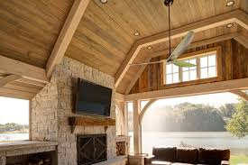 oak beam timber frame porch on lake appalachian u0026 timber