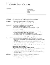 social work resume templates social work resume template therpgmovie