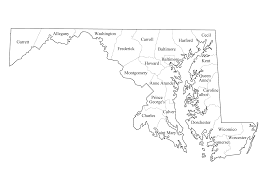 India Blank Outline Map by Geography Blog Maryland Outline Maps