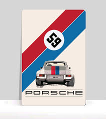 porsche martini logo car decals posters window decals flags t shirts the air factorcar