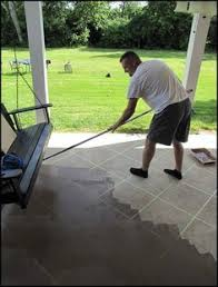 How To Stain Concrete Patio Yourself Broken Concrete Pavers Concrete Walkways And Concrete Patios