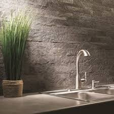 Stone Backsplash Kitchen by Aspect 6 X 24 Inch Weathered Quartz Peel And Stick Stone