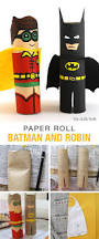 paper roll batman and robin robins batman and craft