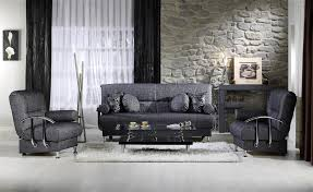grey fabric modern living room sectional sofa w wooden legs modern living room w sleeper sofa metal accents in grey fabric