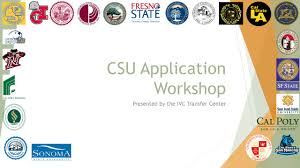 csu application workshop ppt download