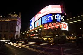 piccadilly circus lights to go for time since ww2