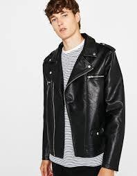 winter biker jacket men u0027s jackets autumn winter collection 2017 bershka