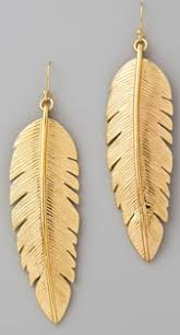 gold feather earrings womens jewelry earrings feather earrings