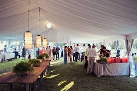 cocktail style reception with marquee from the party hire co