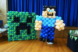 minecraft balloons boys minecraft birthday party balloon decorations party