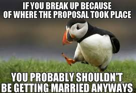 Wedding Proposal Meme - about the whole proposing at a wedding business meme guy