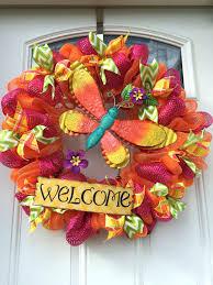 deco mesh ideas diy deco mesh flower wreath summer dragonfly mesh wreath interior