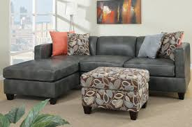 Gray Sofa Living Room by Gray Faux Leather Sectional Sofa With Ottoman Ideas Ohwyatt Com