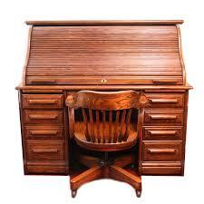 riverside roll top desk oak creek by riverside roll top desk with chair ebth