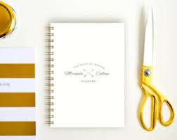 of honor planner bridesmaid notebook etsy