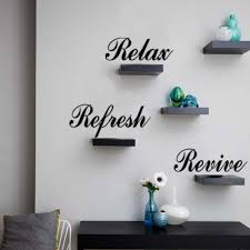 relax refresh revive quote wall decal
