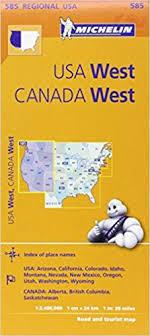 map usa west michelin usa west canada west map 585 maps regional michelin