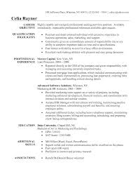 General Career Objective Examples For Resumes by Resume Sample Objective Line