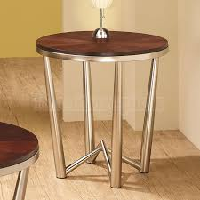 Wood And Metal End Table Circle End Table Consummate Half Circle End Table 43 Towards