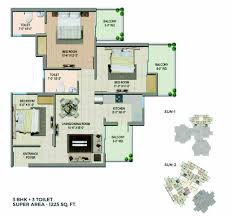 3 Bhk Apartment Floor Plan by Migsun Wynn New Project By Migsun Group In Greater Noida