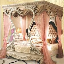 incredible queen canopy bed frame and draperies ideas regarding