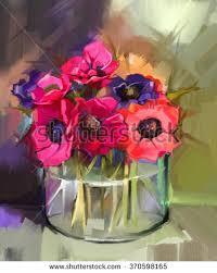 Glass Vase Painting Flower Glass Vase Stock Images Royalty Free Images U0026 Vectors