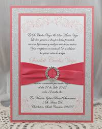 wedding invitations red and silver coral quinceanera invitations dancemomsinfo com