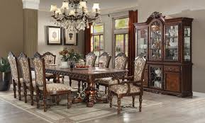 acme dining room furniture wycliff dining table 60140 in cherry finish by acme w options