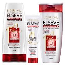 Amado Elseve Reparação Total 5+ L'Oreal Paris - Cicatri-Creme + Shampoo  &IJ65