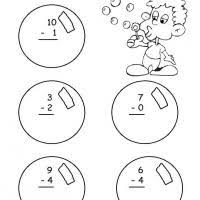grade 1 math blowing bubbles themed subtraction
