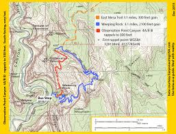 Map Of Zion National Park Observation Point