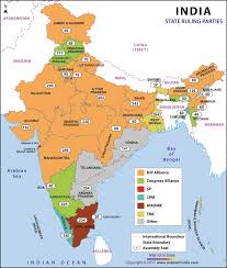 state map political in states of india current ruling