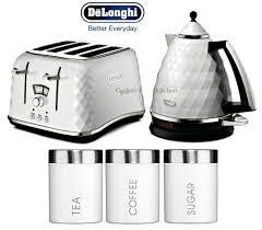 Black Kettle Toaster Set Delonghi Chrome Tea Kettle U0026 Toaster Sets Ebay